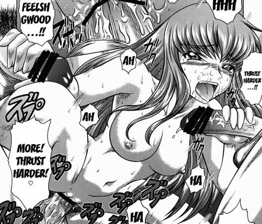 So, yeah, she wanted a lil' gangbang. For a change. Sounds legit, eh ? ^^
