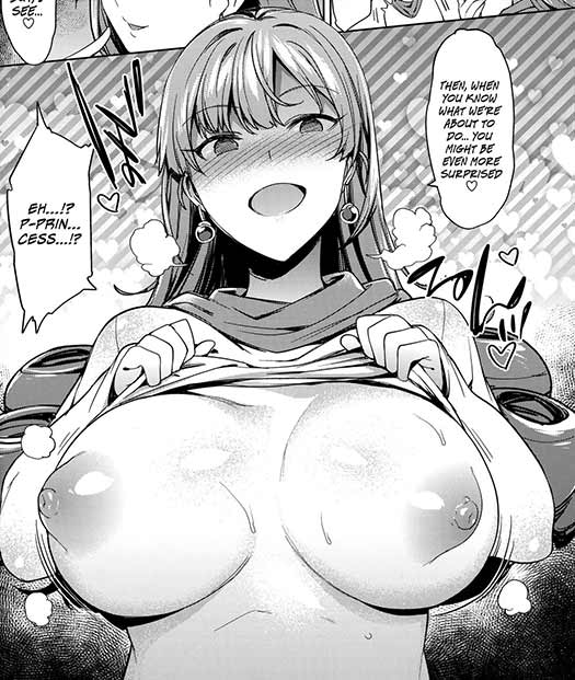 Her boobs. Truly the main character of this doujinshi.